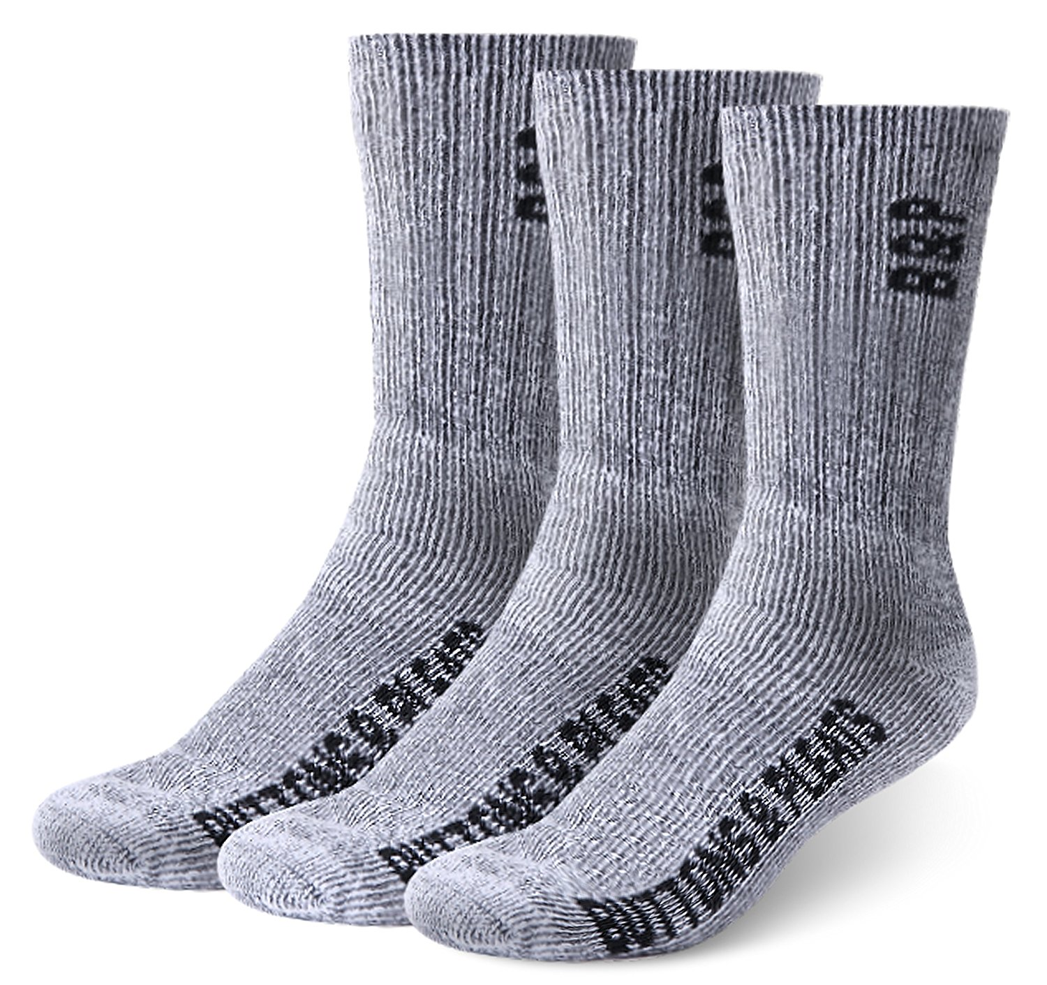 Buttons and Pleats Wool Hiking Socks Outdoor Trail Crew Socks 3 Pairs