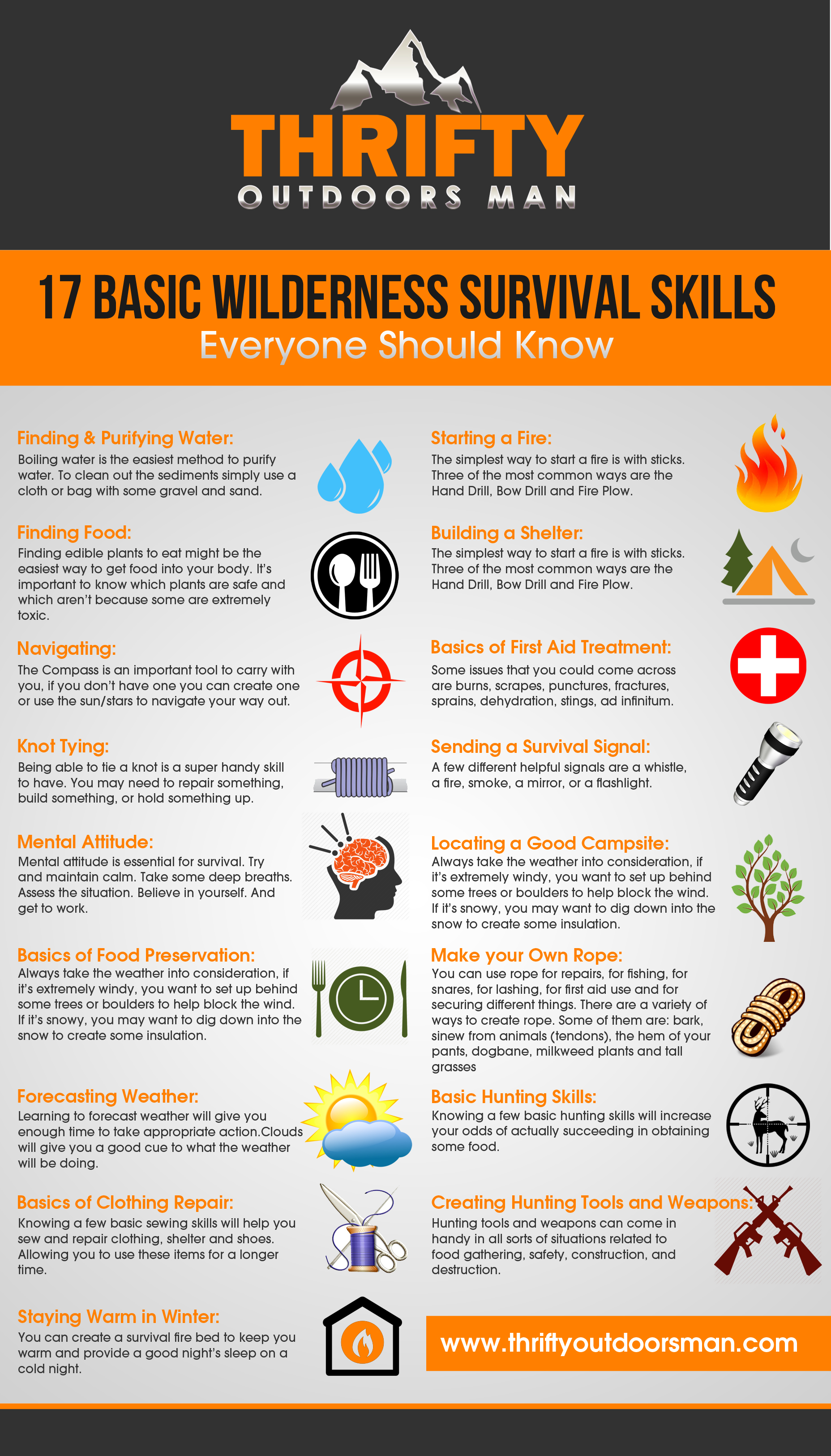 17 Basic Wilderness Survival Skills
