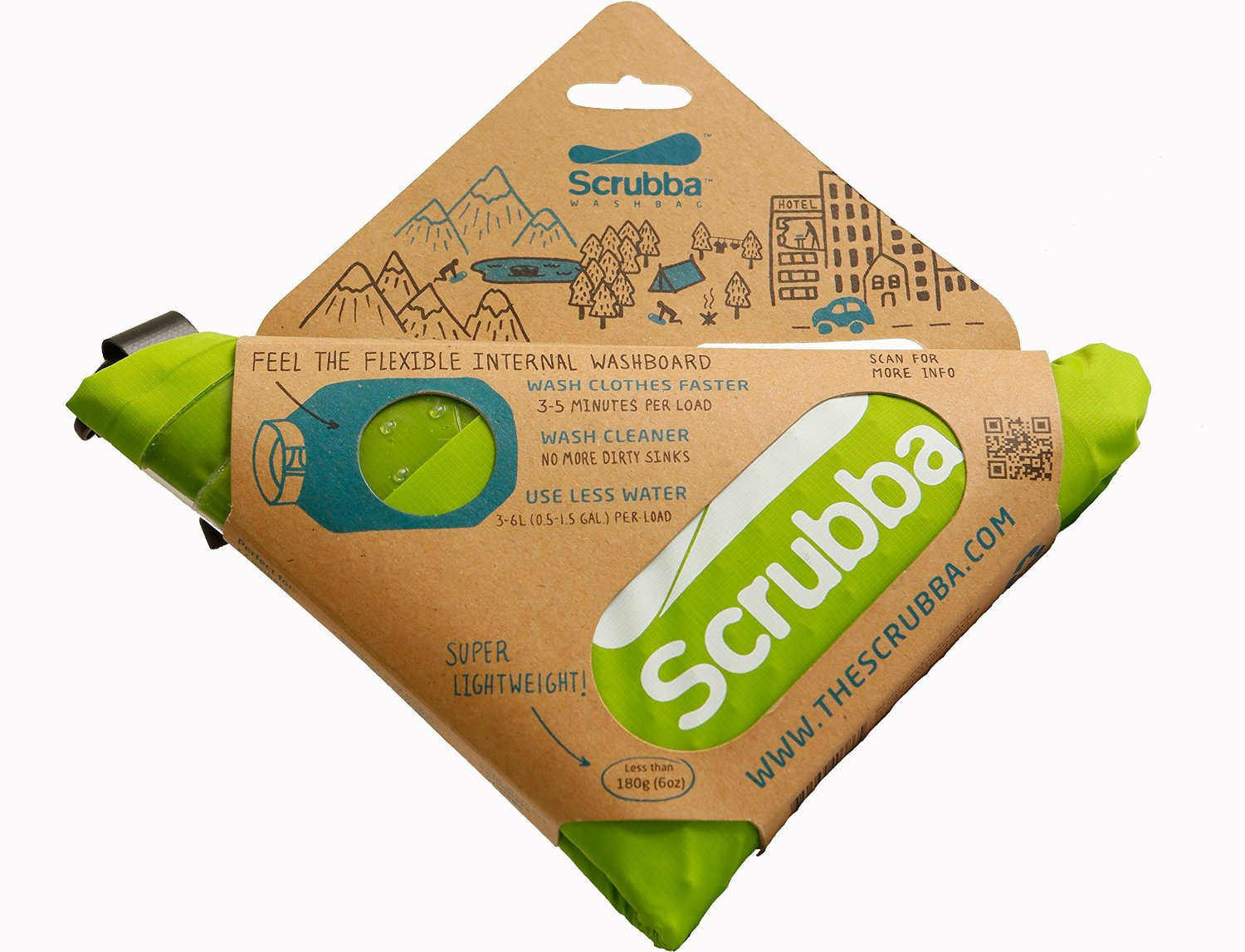 Scrubba Portable Laundry System Wash Bag - 1