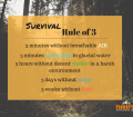 what is the rule of 3 in survival