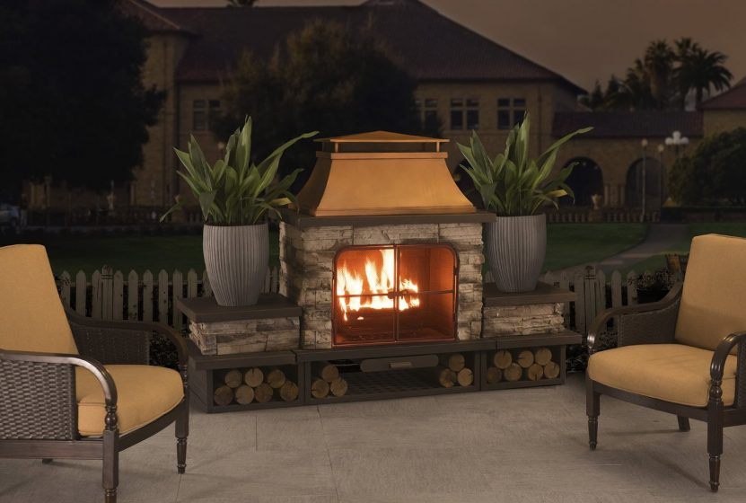 Outdoor fireplace kits outdoor fireplace kits firerock for Prefabricated outdoor fireplace kits