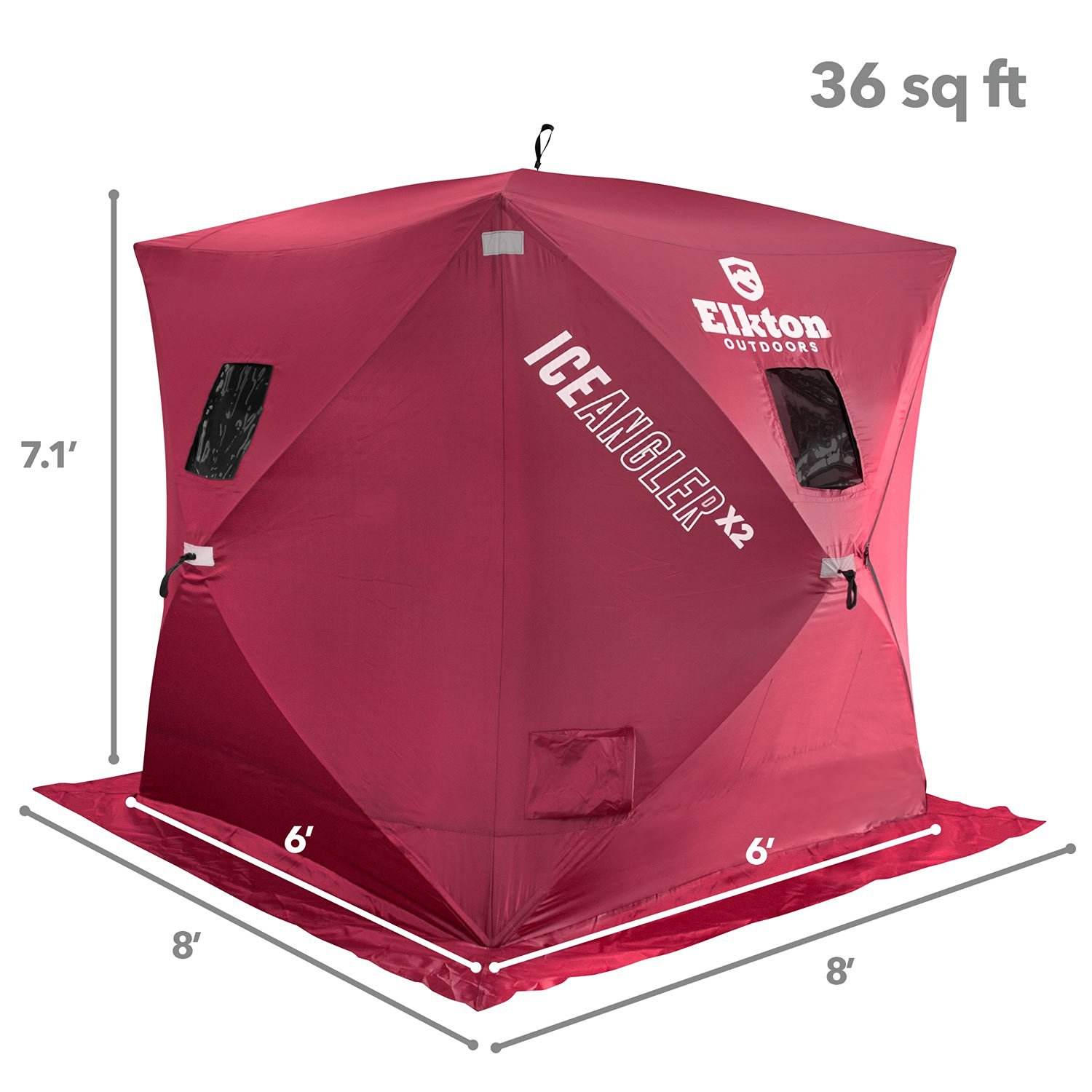 Elktron Portable Pop-Up 3 Person Ice Shelter