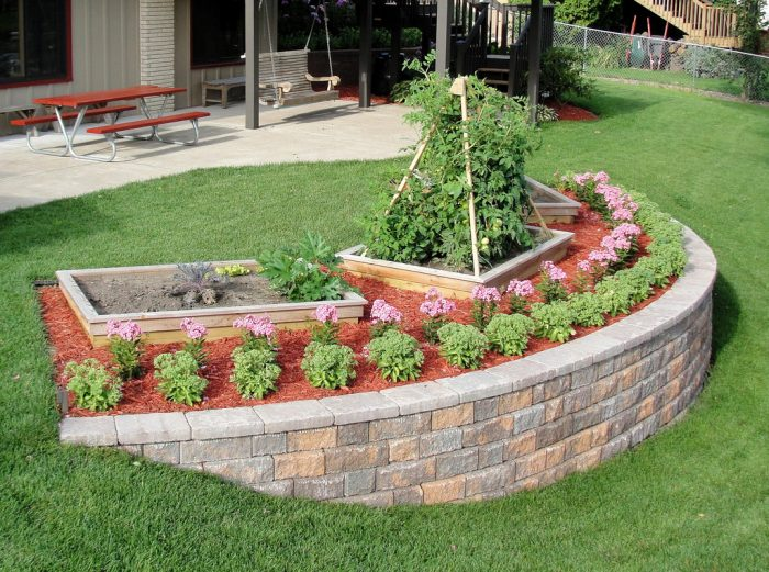 How to Build a Garden Retaining Wall - Thrifty Outdoors Man