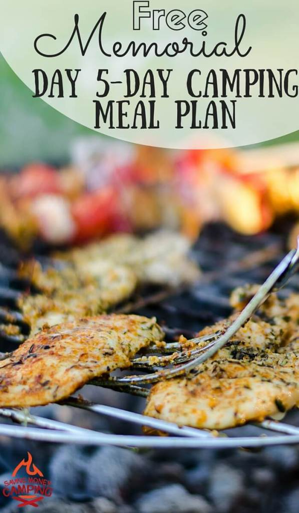 MEMORIAL DAY FREE CAMPING MEAL PLAN (5 DAYS)