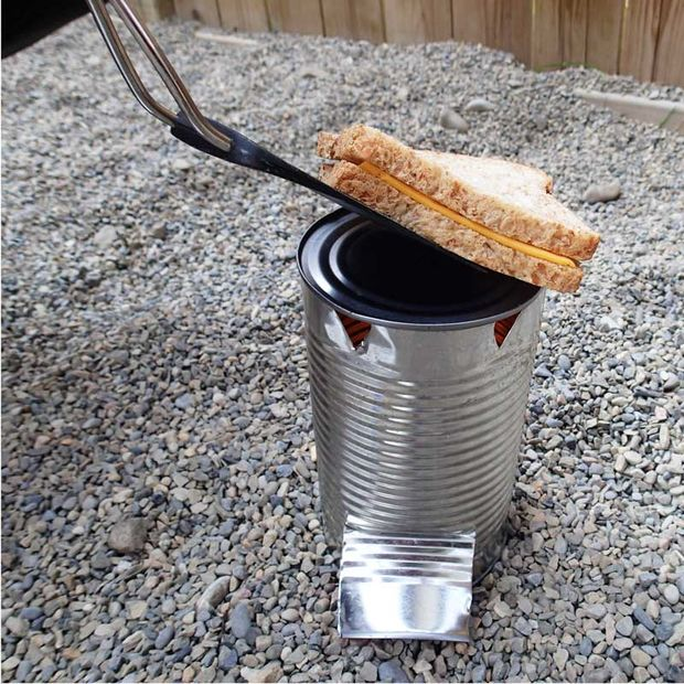 tin can camp stove