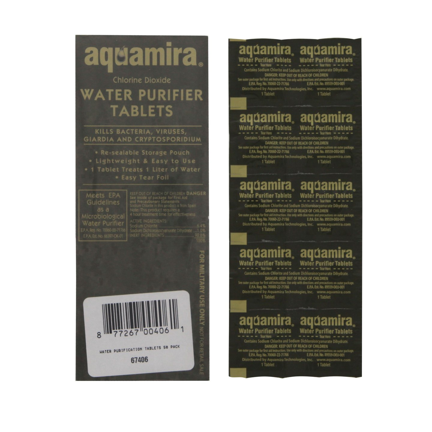 Aquamira Water Purifier Tablets