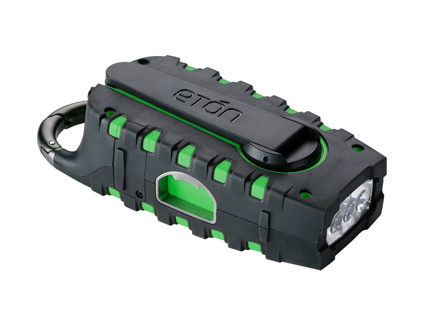 Etón SCORPION Rugged, Portable Multi-Purpose Digital Radio with Crank Power Back-up and Weather Alerts - Green (NSP100GR)