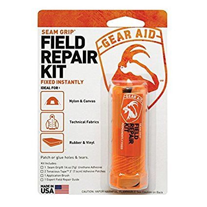 Gear Aid Seam Grip Field Repair Kit with Tenacious Tape Patches