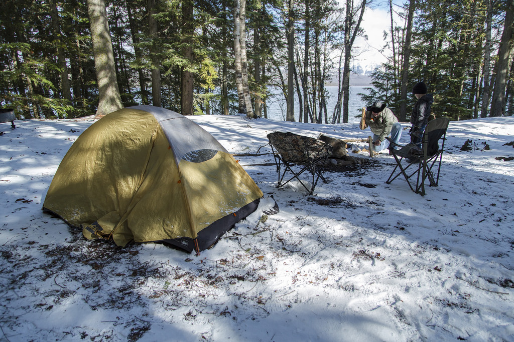 winter camp site