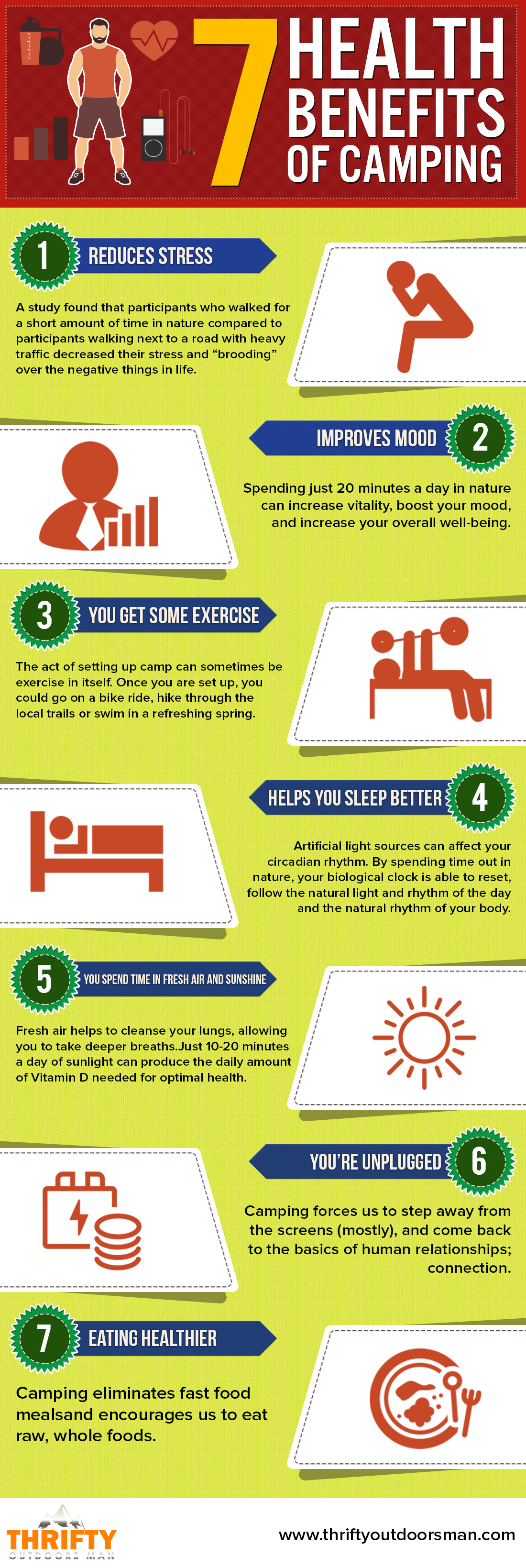7 health benefits of camping