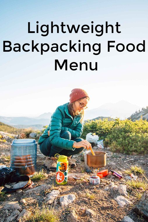 Lightweight Backpacking Food Menu