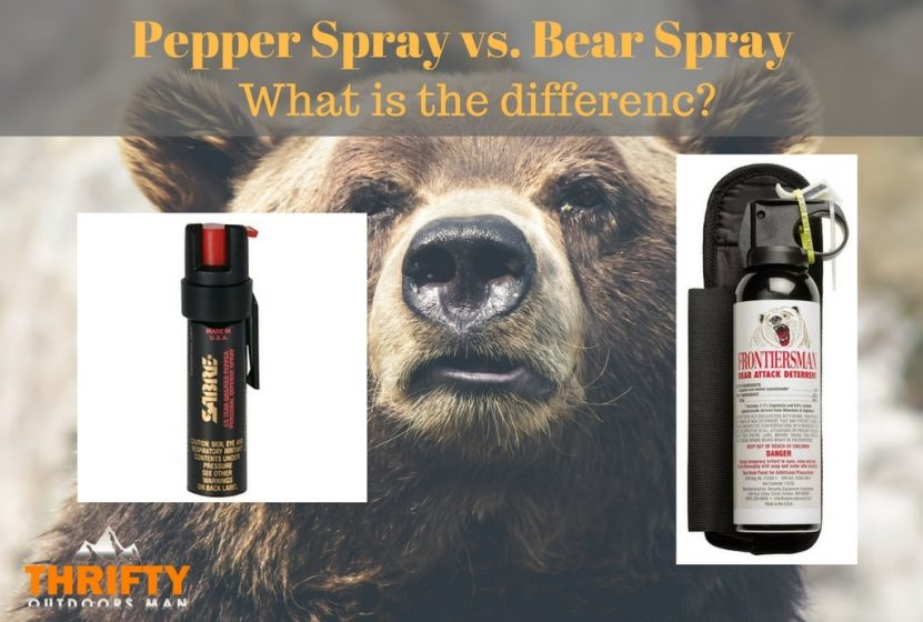 pepper spray vs bear spray what is the difference thrifty