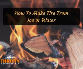 How to make fire from ice or water