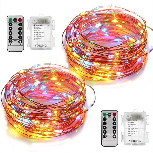 YHONG Multi-colored Fairy String Lights – Battery Operated