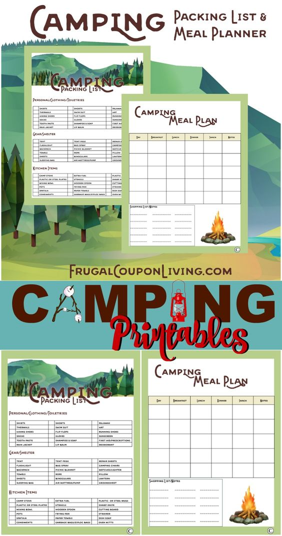 camping meal planning