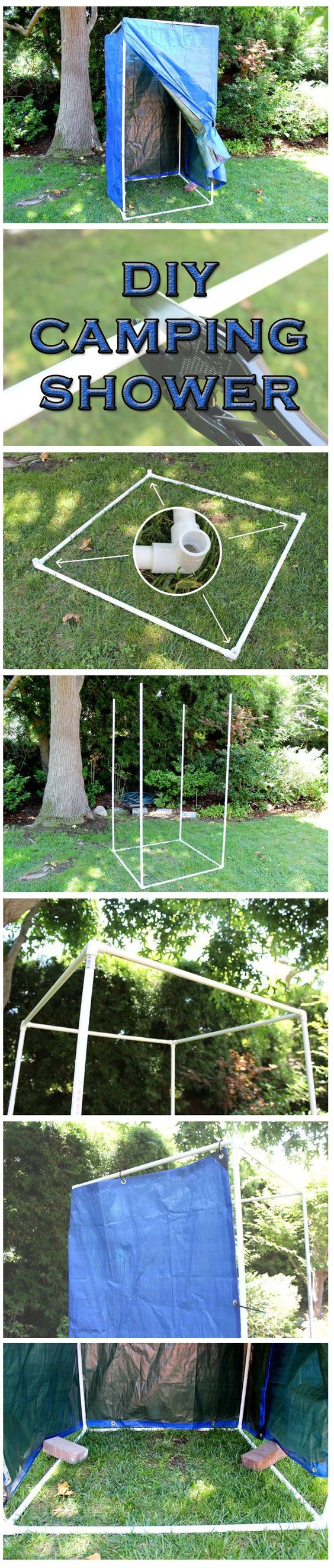 diy camping shower