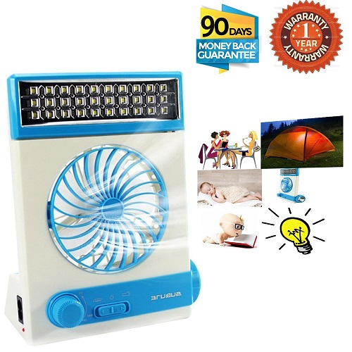 SUAZNRF 3-in-1 Multi-Function Mini Fan